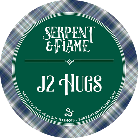 J2 Hugs Candle, Citrus Patchouli Cedar