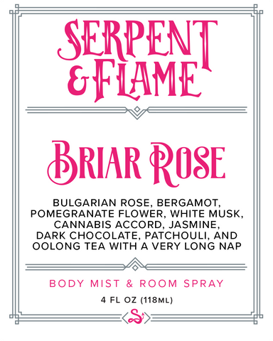 Briar Rose 4oz Spray, Rose Bergamot Pomegranate