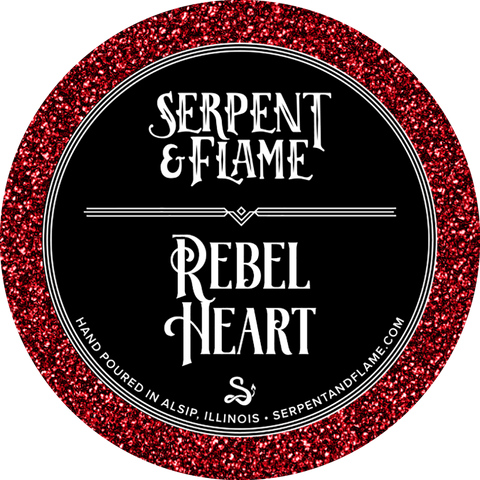Rebel Heart Candle, Patchouli Coffee Orange Blossom