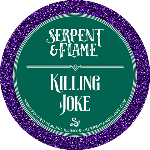 Killing Joke Candle, Gunpowder Grape Cheesecake