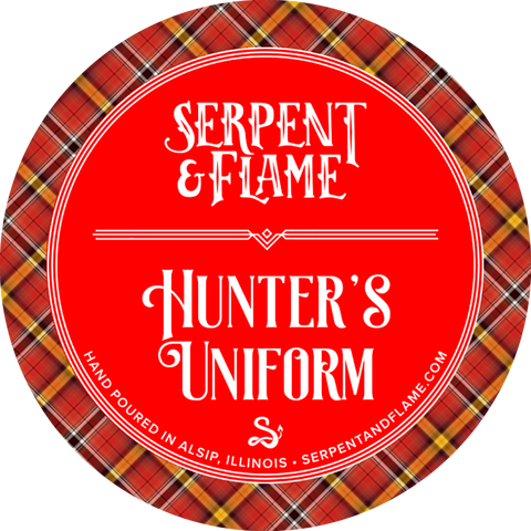 Hunter's Uniform Candle, Bergamot Mahogany Musk