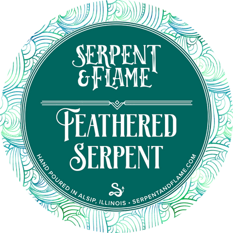 Feathered Serpent Candle, Rum Nutmeg Cinnamon