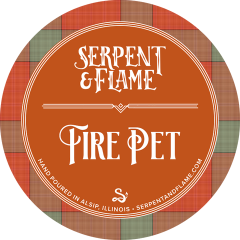 Fire Pet Candle, Ginger Saffron