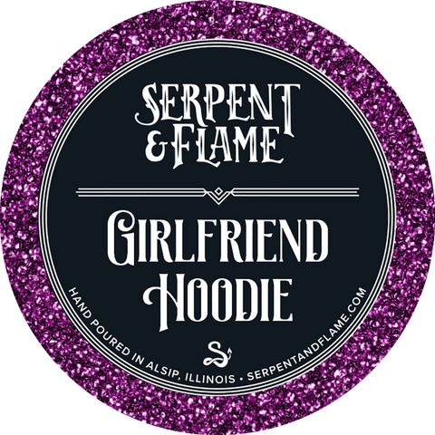 Girlfriend Hoodie Candle, Sugar Berry Bergamot