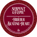 Hideous Beating Heart Candle, Pomegranate Red Currant Lemon