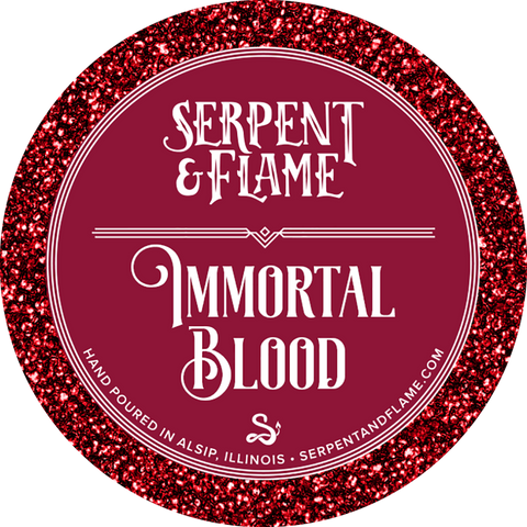 Immortal Blood Candle, Snow Citrus Vanilla