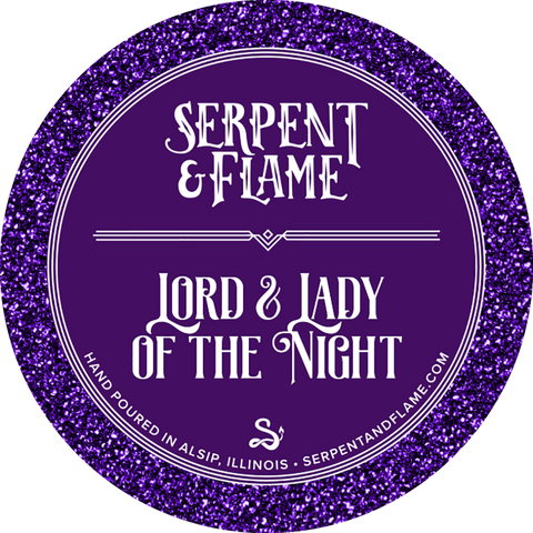 Lord & Lady of the Night Candle, Citrus Sea Air Apple Earl Grey