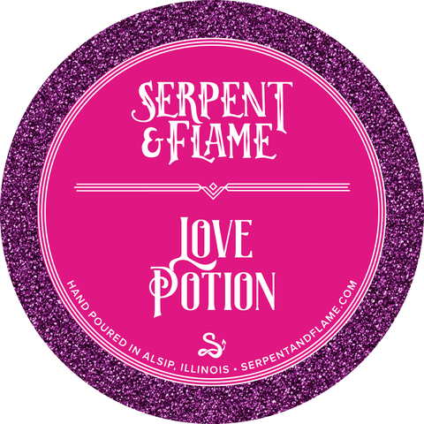 Love Potion Candle, Peach Cherry Blossom