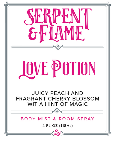 Love Potion 4oz Spray, Peach Cherry Blossom