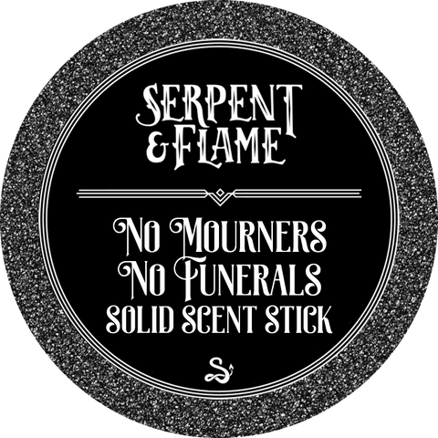 No Mourners No Funerals Solid Scent Stick