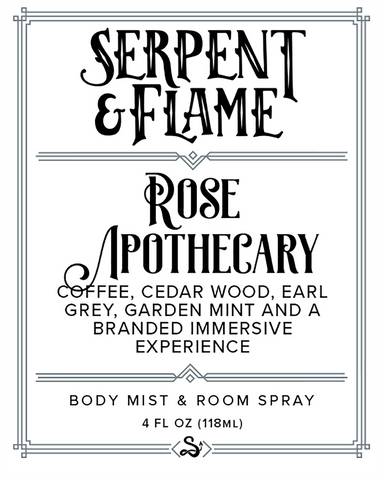 Rose Apothecary 4oz Spray, Coffee Earl Grey Cedar