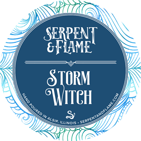 Storm Witch Candle, Ozone Moss Ylang