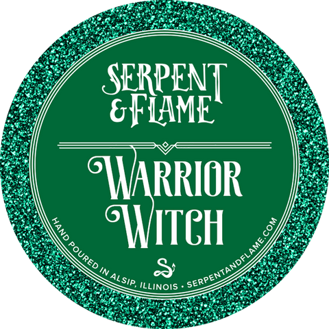 Warrior Witch Candle, Dogwood Metal Bonfire