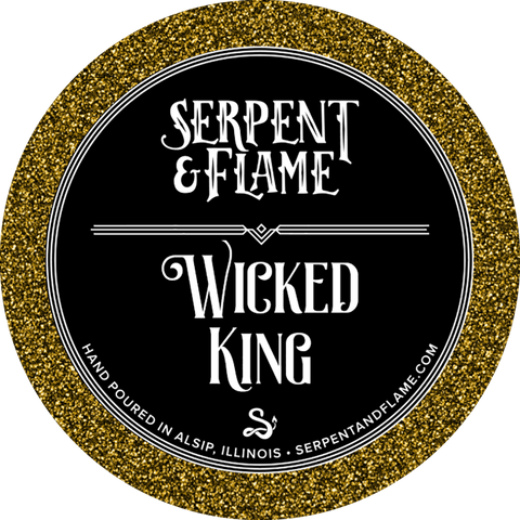 Wicked King Candle, Leather Oak Moss