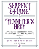 Yennefer's Orgy 4oz Spray, Gooseberry Apple Juice