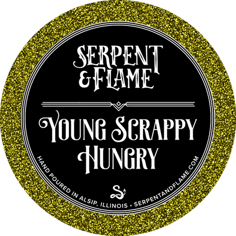 Young Scrappy Hungry Candle, Cherrywood Tobacco