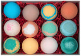 Colorful Bath bombs Red Crinkle paper