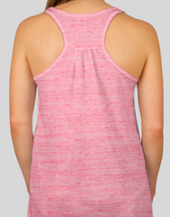 Ladies Flowy Racerback Tank Red Marble
