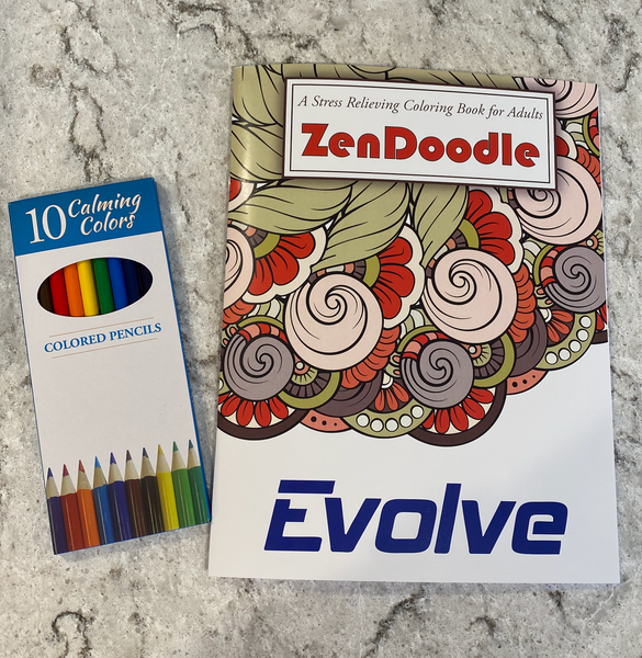 Evolve Zen Coloring Book/Colored Pencils