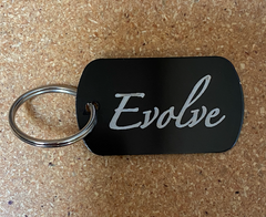 Evolve Dog Tag Keyring