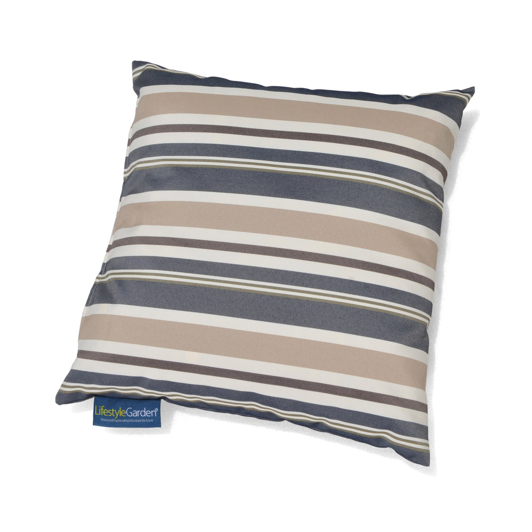 Cojín de exterior Stripe Dark Blue Grey