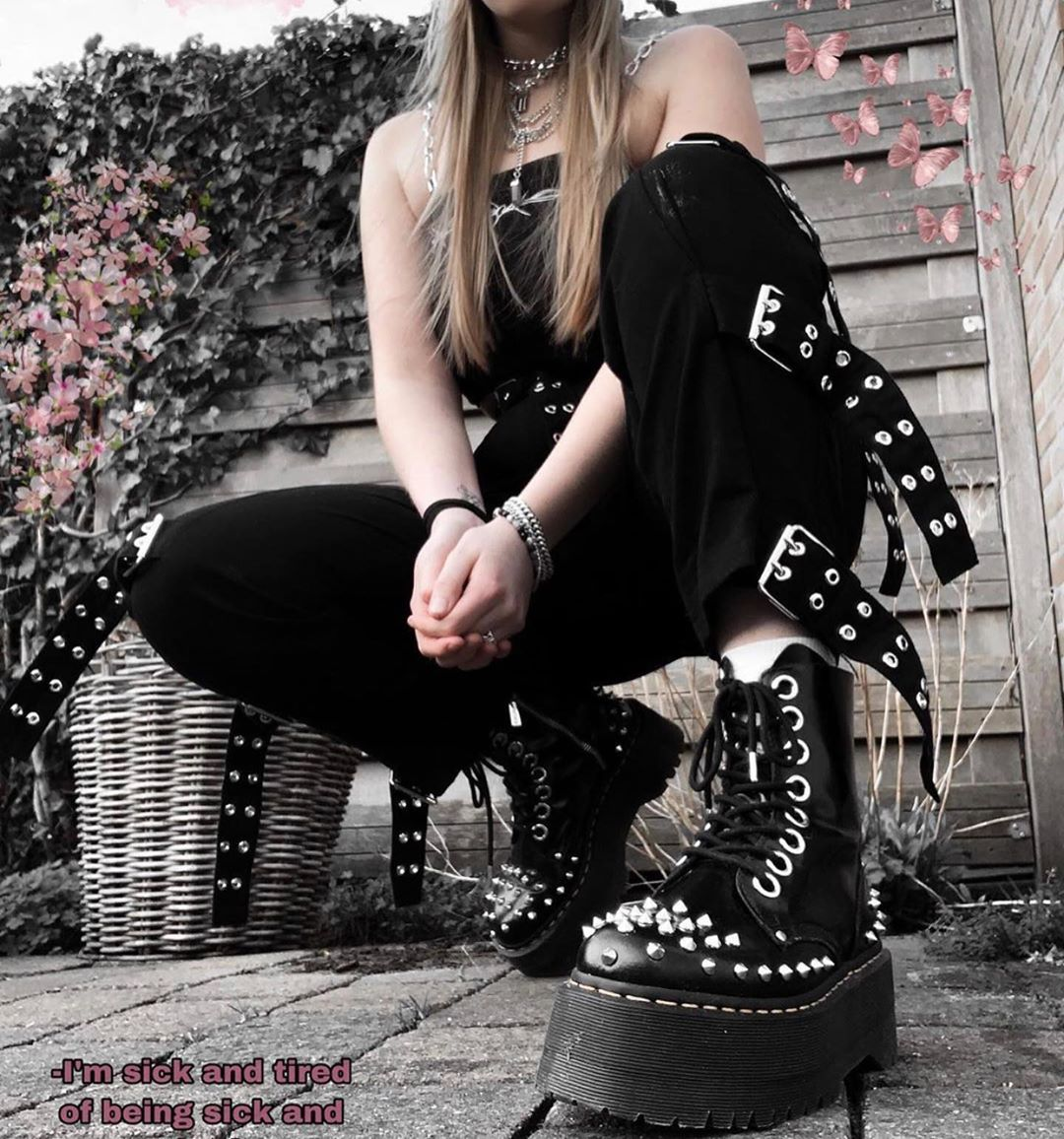 Grunge Aesthetic Outfit - Boots | Alternative fashion online store