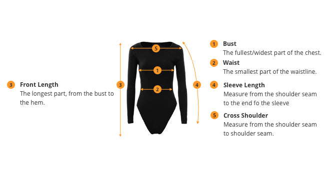 how to measure Bodysuits size