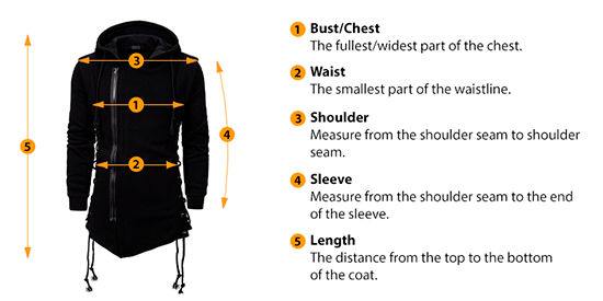 how to measure coat size