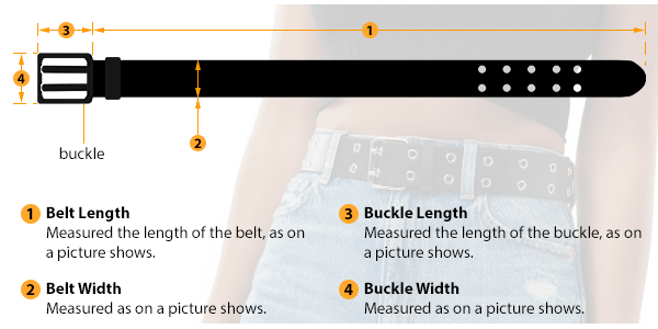 how to measure female belt size