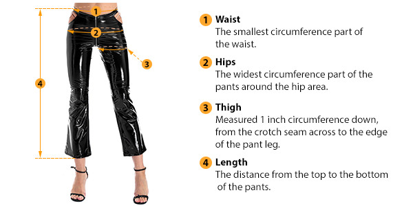how to measure female pants size