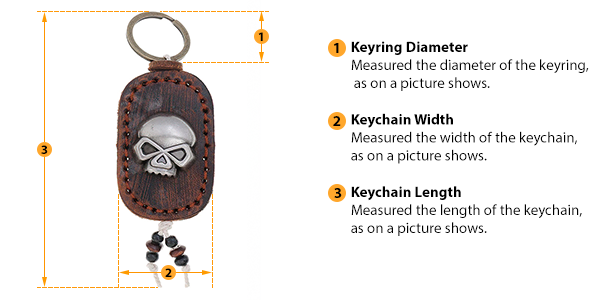 how to measure keychain size