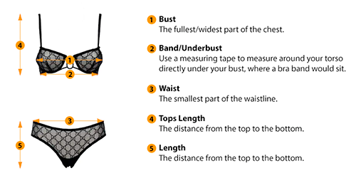 how to measure lingerie size