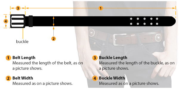 how to measure male belt size