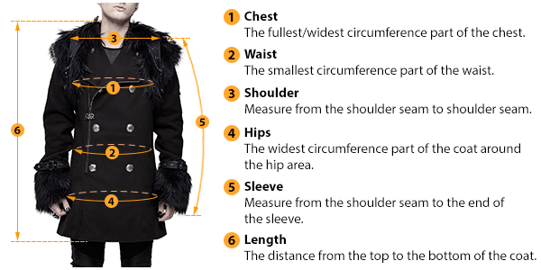 how to measure male coat size