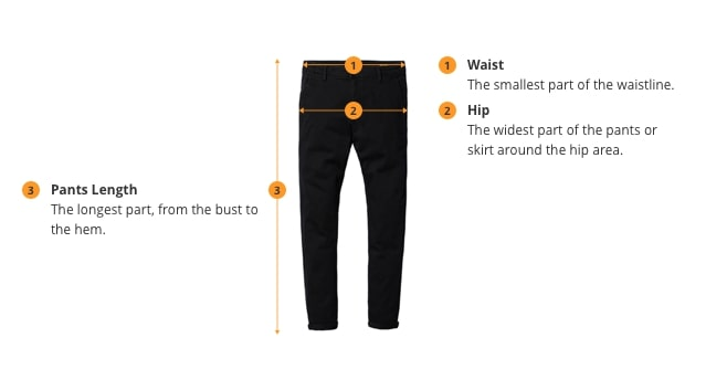how to measure pants size