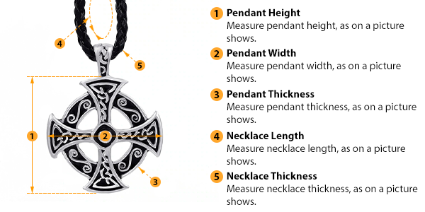 how to measure pendant and necklace size