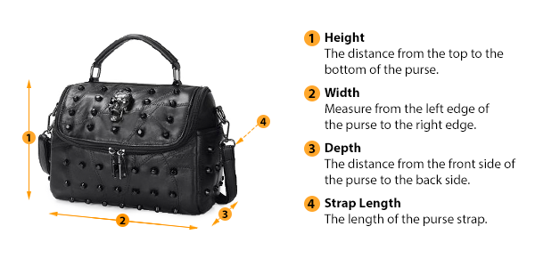 how to measure purse size