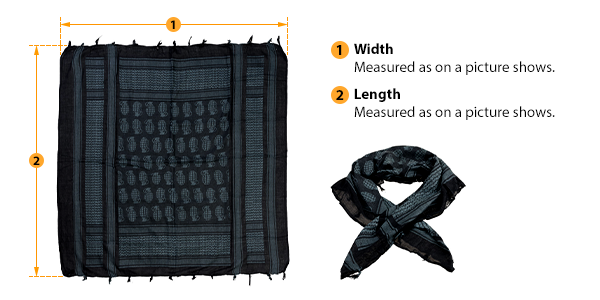 how to measure scarf size