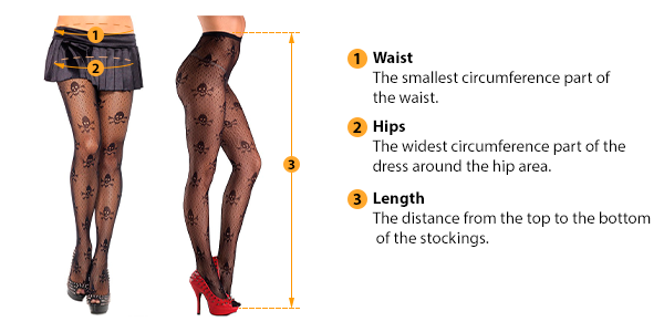 how to measure stockings size
