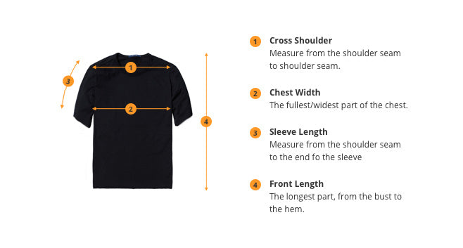 how to measure t-shirt size