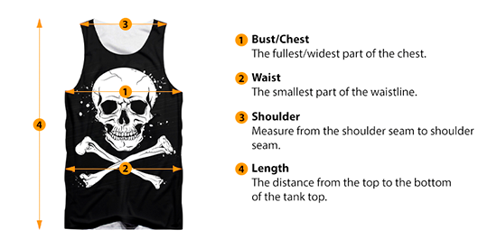 how to measure tank top size
