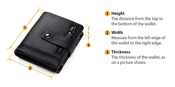 how to measure wallet size