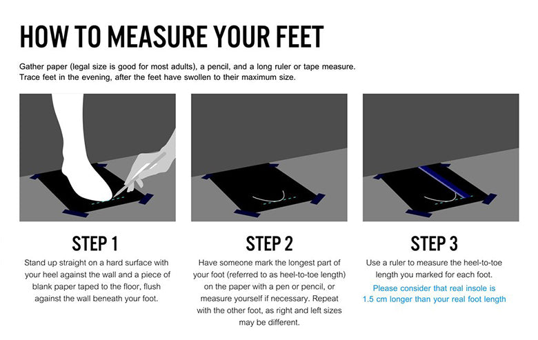 how to measure foot size