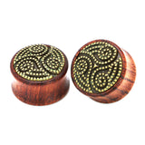 1 PC Bamboo Wood Ear Plugs Jewelry Gauges / Flesh Tunnel Expander with Wing - HARD'N'HEAVY