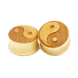 1 PC Bamboo Wood Ear Plugs Jewelry Gauges / Tai Chi Flesh Tunnel Expander - HARD'N'HEAVY