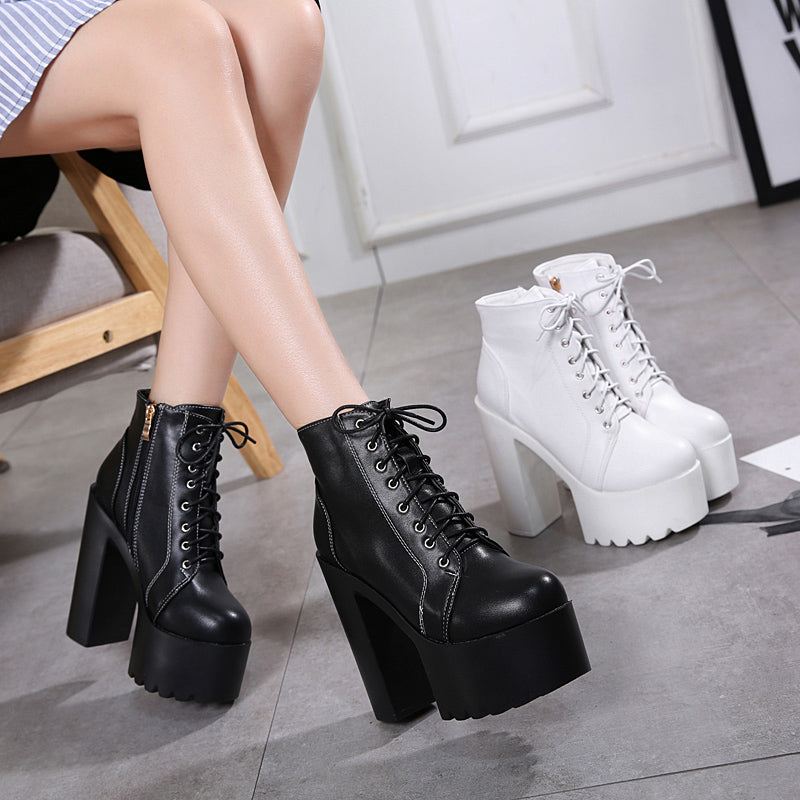 15cm High Heels Ankle Boots / Women's Goth Shoes - HARD'N'HEAVY