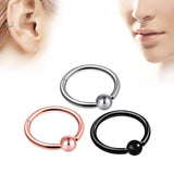 1PC Double Layers Steel Clicker Segment Nose Hoop Rings / Hinged Ear Nose Piercing