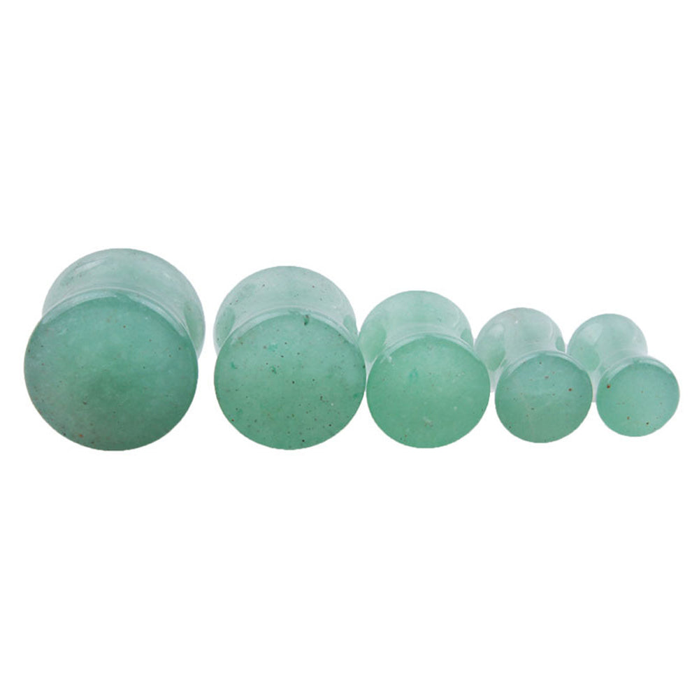 1PC Stone Ear Plugs / Gauges Earrings Flesh Tunnel Piercing / Aventurine Expander Body Jewelry - HARD'N'HEAVY