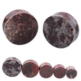 1PC Stone Ear Plugs / Gauges Earrings Flesh Tunnel Piercing / Bloodstone Expander Body Jewelry - HARD'N'HEAVY