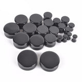 1PC Stone Ear Plugs / Gauges Earrings Flesh Tunnel Piercing / Obsidian Expander Body Jewelry - HARD'N'HEAVY